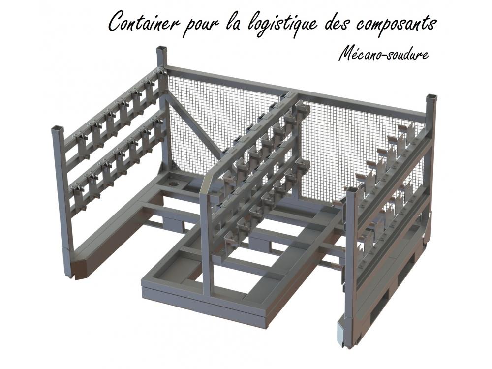 Container pour la logistique de composants
