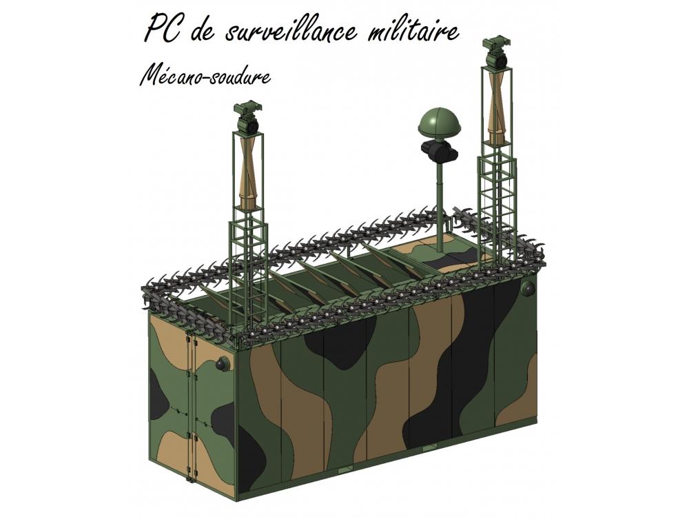 PC de surveillance militaire