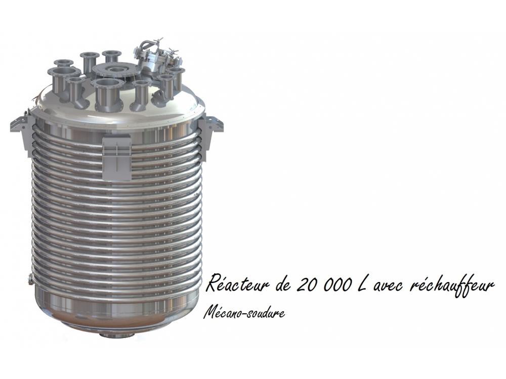 Réacteur de 20 000 L avec réchauffeur