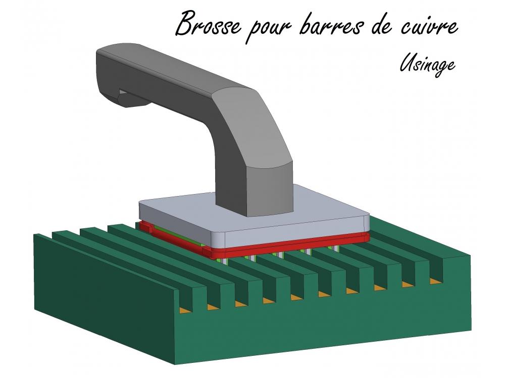 Brosse pour barres de cuivre
