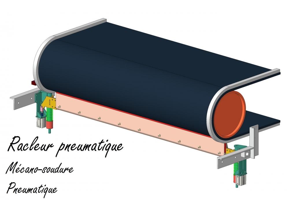 Racleur pneumatique