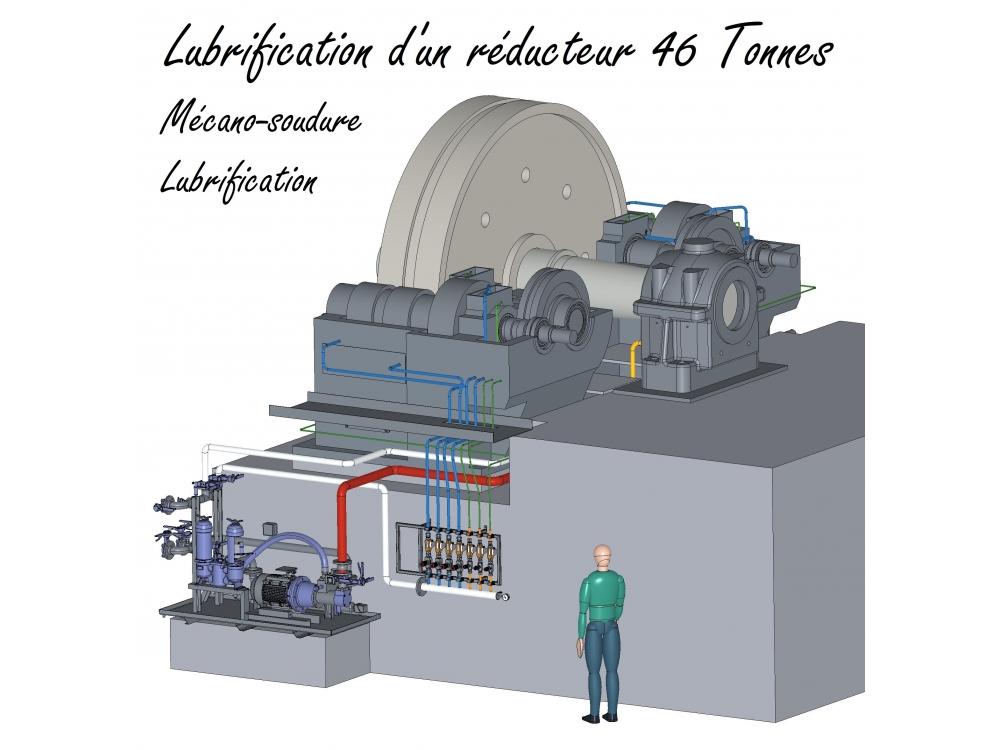 Lubrification d'un réducteur 46 T