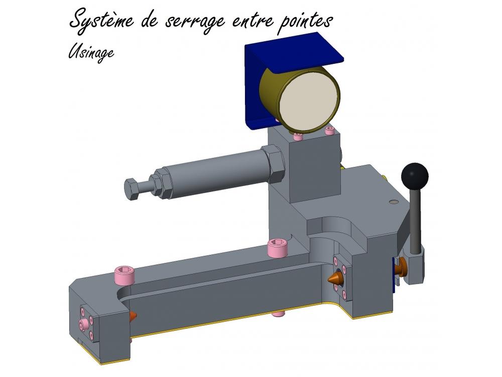 Système de serrage entre pointes